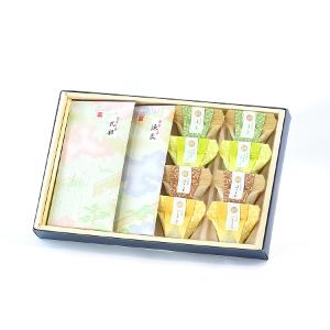 葵(あおい) お茶葛餅(くずもち)と日本茶のセット