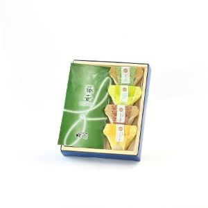 お茶葛餅と日本茶のセット